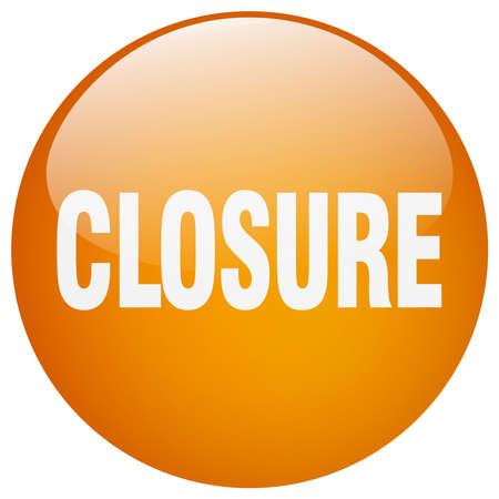 closure: closure orange round gel isolated push button