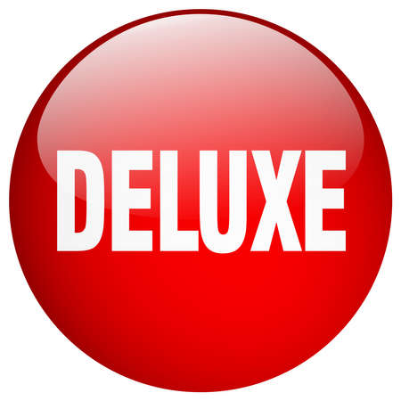 deluxe: deluxe red round gel isolated push button