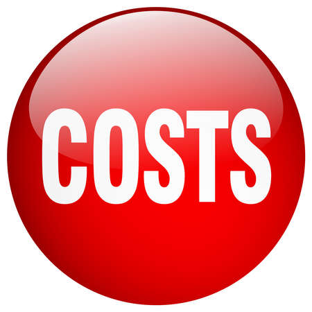 costs red round gel isolated push button