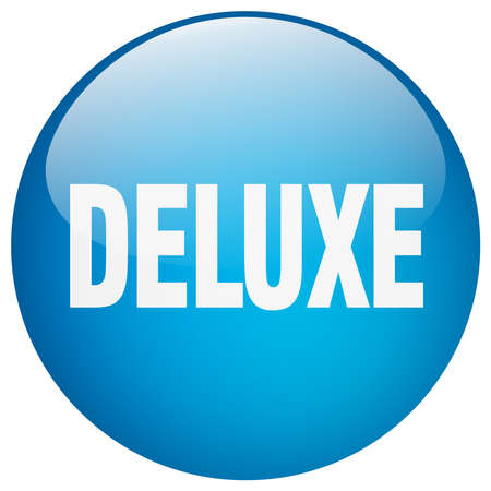 deluxe: deluxe blue round gel isolated push button