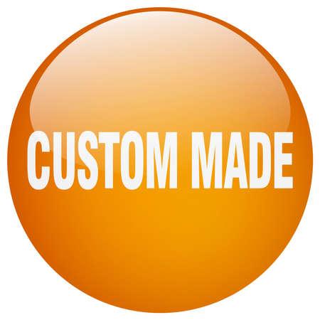 custom made: custom made orange round gel isolated push button