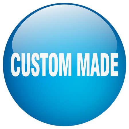 custom made: custom made blue round gel isolated push button Illustration