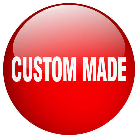 custom made: custom made red round gel isolated push button Illustration