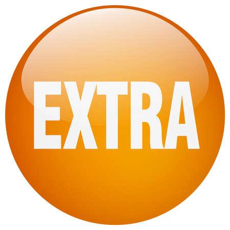 gel: extra orange round gel isolated push button Illustration