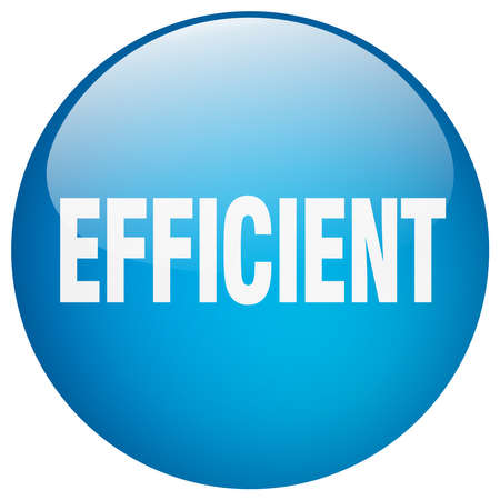 efficient: efficient blue round gel isolated push button