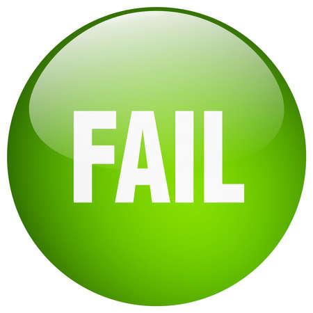 fail: fail green round gel isolated push button