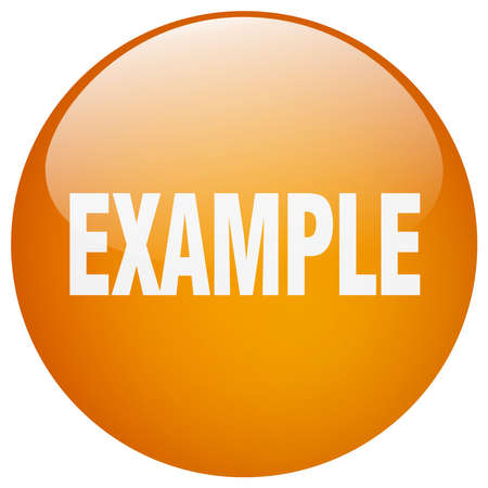 example: example orange round gel isolated push button
