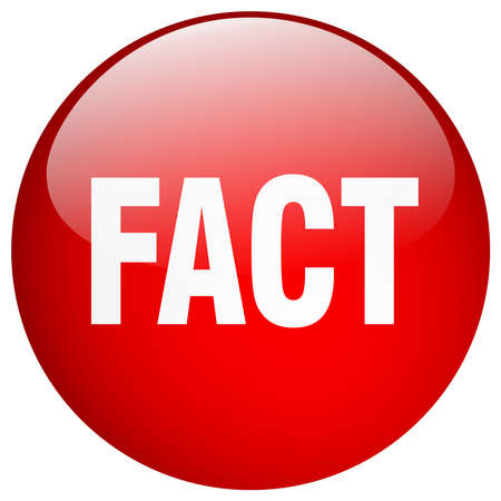 fact: fact red round gel isolated push button Illustration