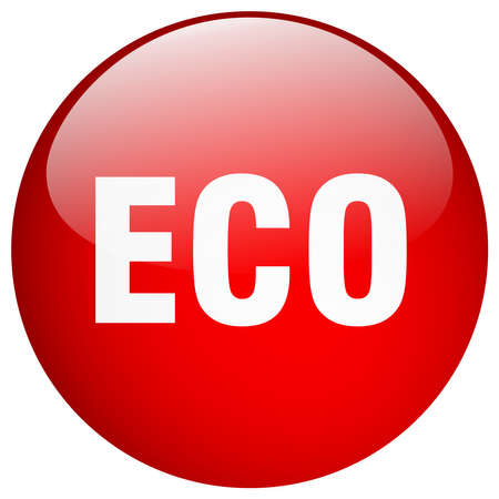 gel: eco red round gel isolated push button Illustration