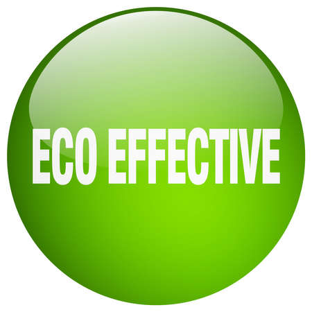 effective: eco effective green round gel isolated push button