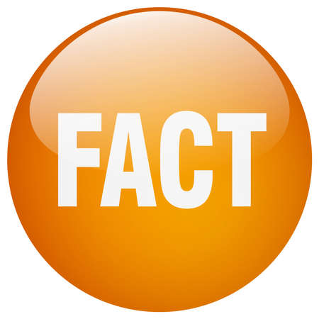 fact: fact orange round gel isolated push button
