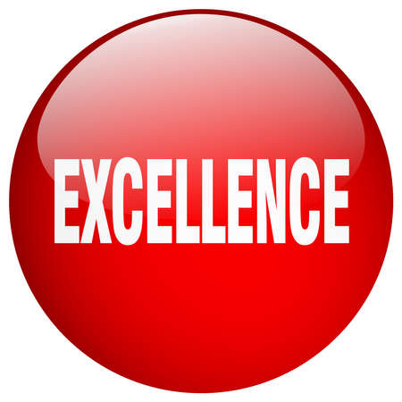excellence: excellence red round gel isolated push button