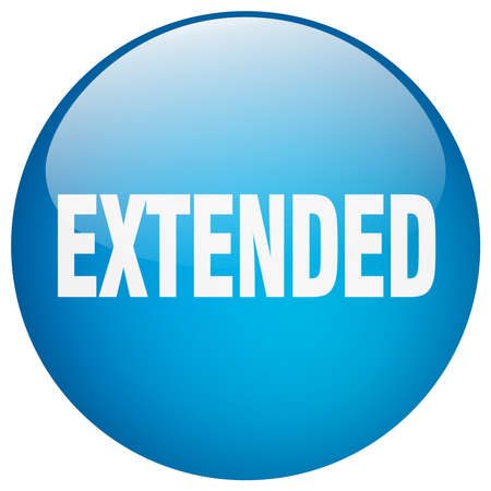 extended: extended blue round gel isolated push button