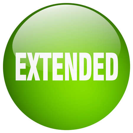 extended: extended green round gel isolated push button Illustration