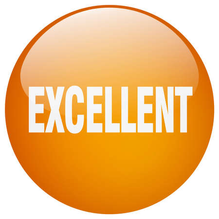 excellent: excellent orange round gel isolated push button