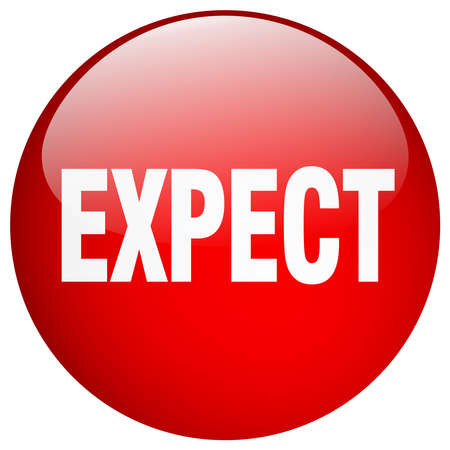 expect: expect red round gel isolated push button