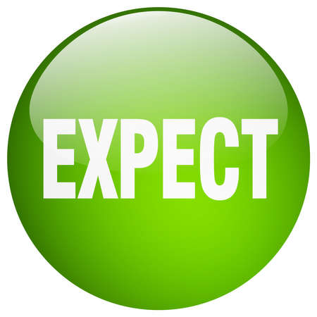to expect: expect green round gel isolated push button
