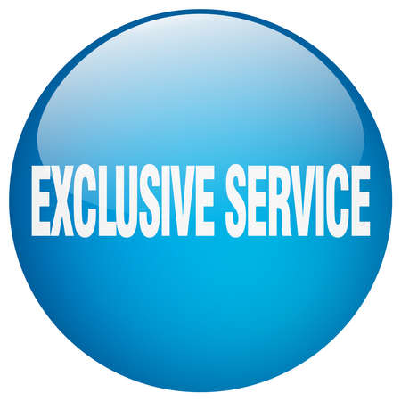 exclusive: exclusive service blue round gel isolated push button
