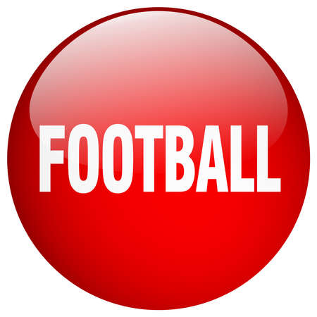 red button: football red round gel isolated push button Illustration