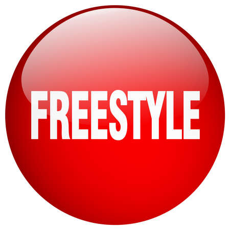 freestyle: freestyle red round gel isolated push button