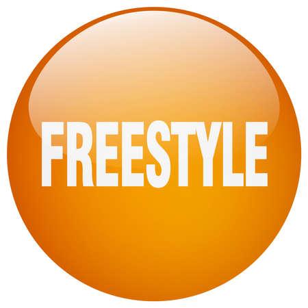 freestyle: freestyle orange round gel isolated push button