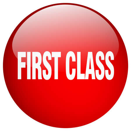 first in class: first class red round gel isolated push button