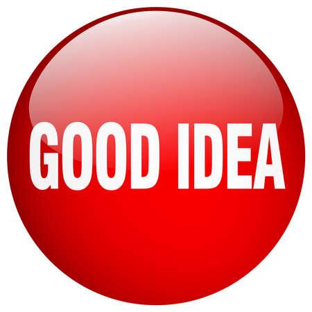 good idea: good idea red round gel isolated push button