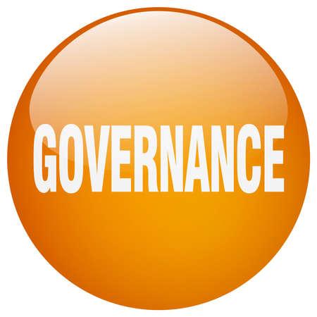 governance: governance orange round gel isolated push button Illustration