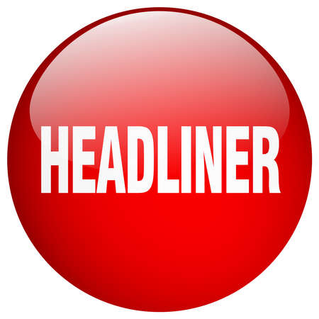 headliner: headliner red round gel isolated push button