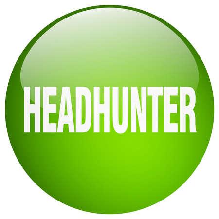headhunter: headhunter green round gel isolated push button