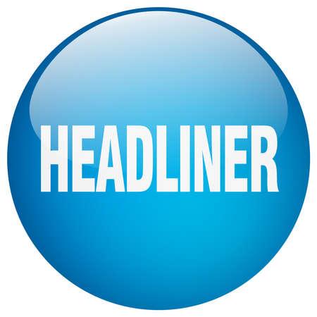 headliner: headliner blue round gel isolated push button