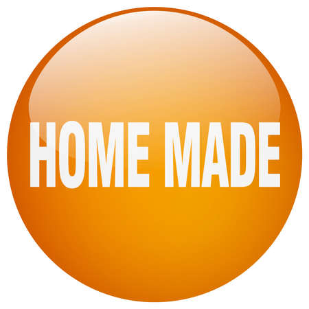 home made: home made orange round gel isolated push button
