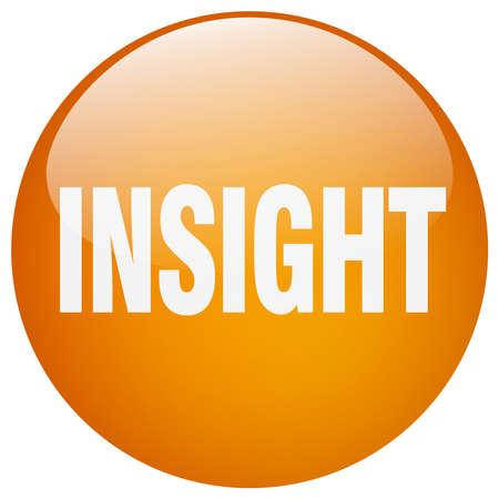 insight: insight orange round gel isolated push button