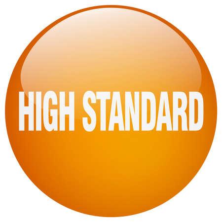 standard: high standard orange round gel isolated push button