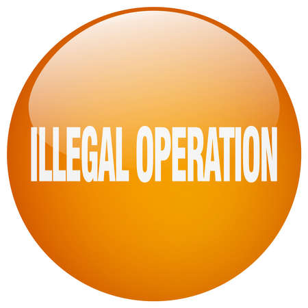 operation: illegal operation orange round gel isolated push button