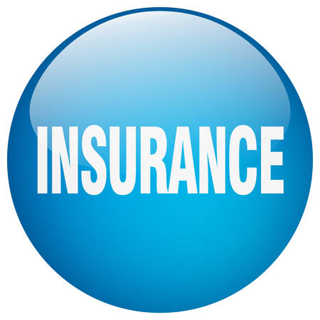 gel: insurance blue round gel isolated push button