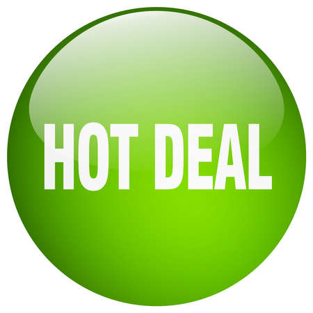 hot deal: hot deal green round gel isolated push button