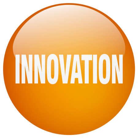 gel: innovation orange round gel isolated push button Illustration
