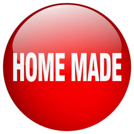 home made: home made red round gel isolated push button