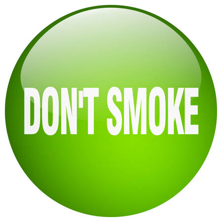 don't: dont smoke green round gel isolated push button Illustration