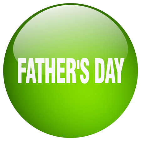 green day: fathers day green round gel isolated push button