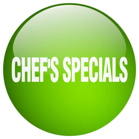 specials: chefs specials green round gel isolated push button