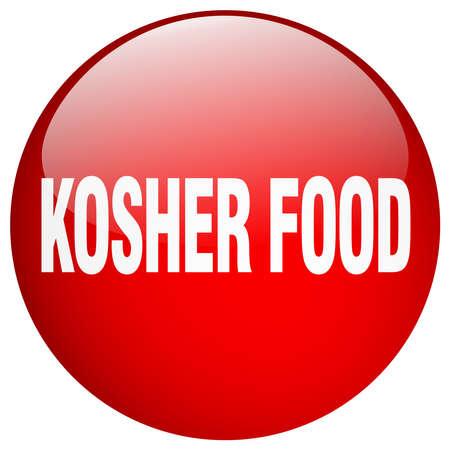 kosher: kosher food red round gel isolated push button Illustration