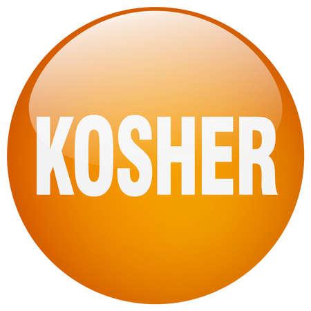 gel: kosher orange round gel isolated push button