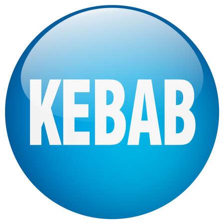 gel: kebab blue round gel isolated push button