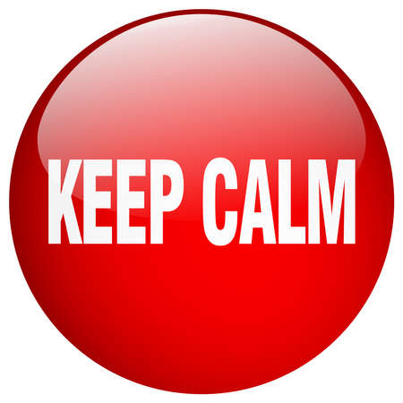 push button: keep calm red round gel isolated push button