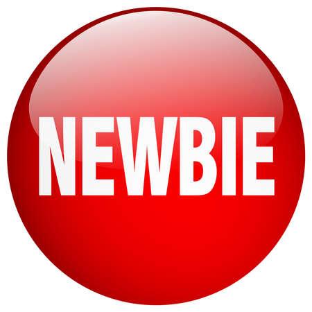 newbie: newbie red round gel isolated push button Illustration