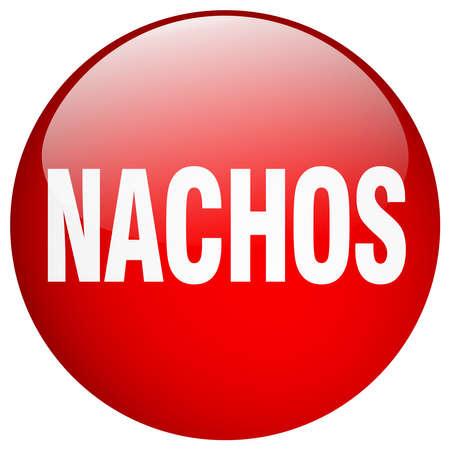 nachos: nachos red round gel isolated push button Illustration