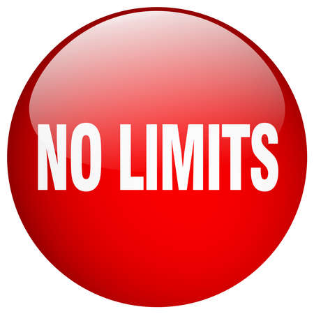 no limits: no limits red round gel isolated push button Illustration