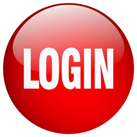 gel: login red round gel isolated push button Illustration